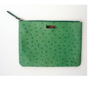 Kate Spade Ostrich Embossed Pouch